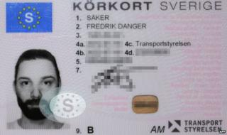 Driving licence of Fredrik Saeker