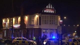 Scene of Benton pub shooting