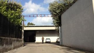 Entrance to Euromilk plant