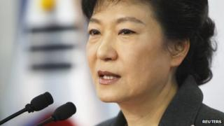 Park Geun-hye, speaking in Seoul on 20 December 2012