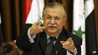 President Jalal Talabani in 2007
