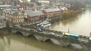 Welsh Bridge in Shrewsbury