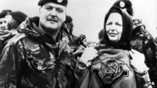 Margaret Thatcher ar Ynysoedd y Falkland