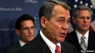 Speaker of the House John Boehner during a media availability 18 December 2012