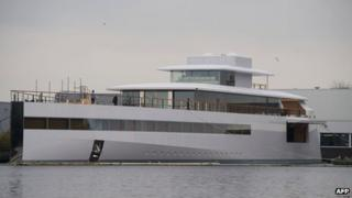 The high-tech yacht Venus
