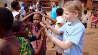 Martha Payne went to Malawi after raising money for the charity Mary's Meals