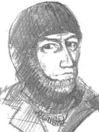 An artist's impression of the Lymington and Brockenhurst armed robber