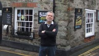 Tony Ginn outside the Ship Inn