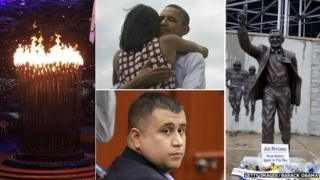 The Olympic flame, the Obamas, George Zimmerman, the statue of Joe Paterno