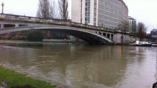 The River Thames at Reading bridge