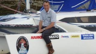 Alan Rankin on his yacht Trade Winds