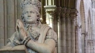 Statue of Louis XVI in St Denis Cathedral