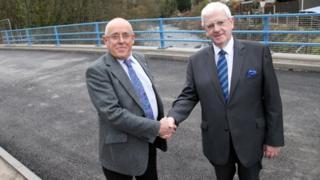 Powys council leader, Coun David Jones, and Neath Port Talbot council leader, Coun Ali Thomas