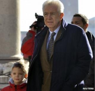 Mario Monti in Venice, 29 December 2012