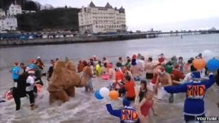 Llandudno Boxing Day swim