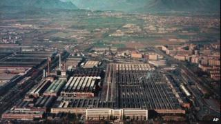 Fiat factory in Turin