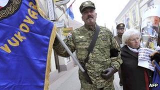 Croatian war veteran in Vukovar, 18 Nov 11