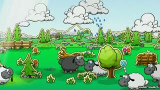Sheep and Clouds video game