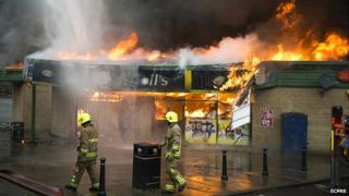 Fire at The Triangle in Langdon Hills, Basildon