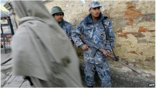 Nepalese security forces in 2005