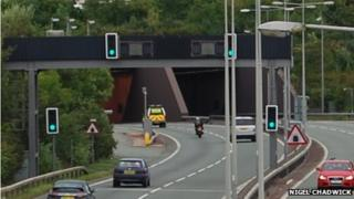 Entrance to Conwy tunnel