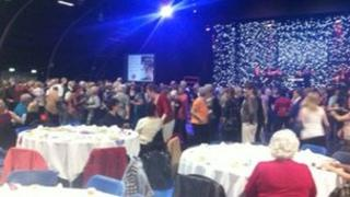 About 1,000 people took part in the tea dance