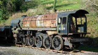 Steam engine awaiting restoration
