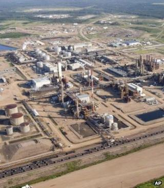 Oil sands facility, Alberta (Image: AP)