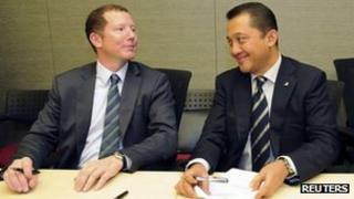 Bumi's Nathaniel Rothschild and Bakrie Brothers Chief Executive Officer Bobby Gafur Umar