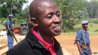 Burundian journalist Hassan Ruvakuki in Gitega on 18 October 2012