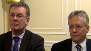 Mike Nesbitt and Peter Robinson