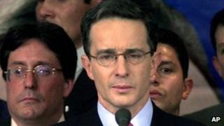 Colombia's former president Alvaro Uribe