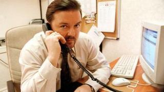 Ricky Gervais as an office manager