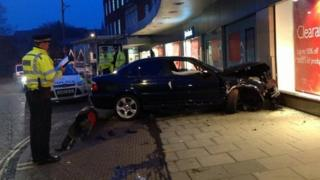 Car crashes into John Lewis in Norwich