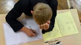Pupil sitting an exam