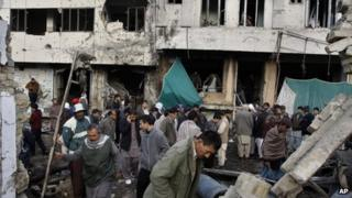 Site of twin blasts - Quetta