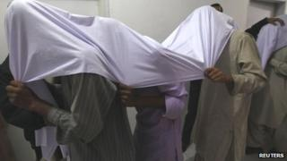 Suspected militants in Pakistan (January 2013)