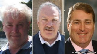 Councillors Richard Gale, David Richardson and Nicholas Wainwright