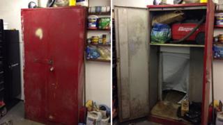 Cupboard with false back