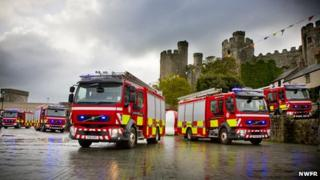 North Wales fire engines