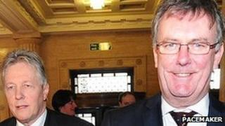 DUP leader Peter Robinson and UUP leader Mike Nesbitt