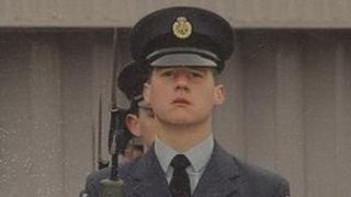 James Chalklin in RAF uniform