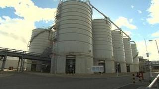 Ensus bioethanlol plant at Wilton