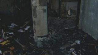 West Belfast hostel fire