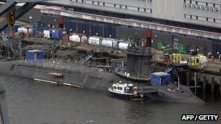 Submarine at Faslane