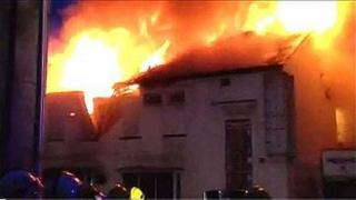 Trades club fire Blackpool courtesy of Lancashire Fire and Rescue