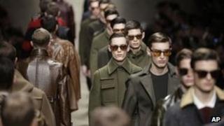 Burberry models at a recent catwalk show