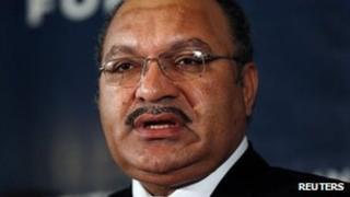 Papua New Guinea PM Peter O'Neill (Nov 2012)