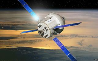 Artist's impression of Orion and its European service module