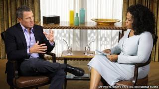 Lance Armstrong talks to Oprah Winfrey